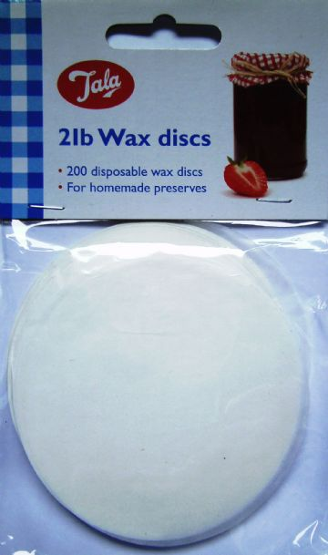 200x 2lb Tala Wax Discs Covers Jam Preserves Chutney Pickle